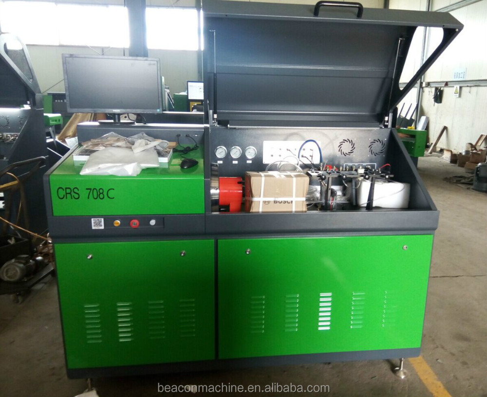 Automobile high pressure common rail CRS708C fuel injector pump test equipment service machine