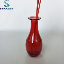 Good price china factory SR1621-250ml fancy tall egg shape reed diffuser glass bottle with cork for cosmetic packaging