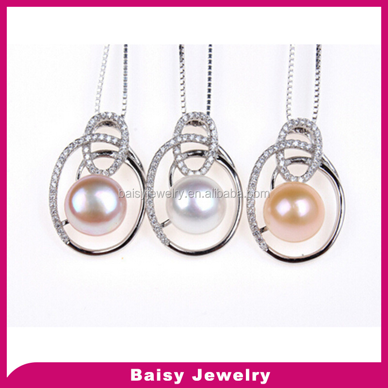 Fashion bulk sale S925 sterling silver mother of pearl pendant