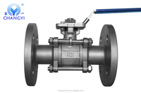 Stainless Steel 3pc DIN RF Flanged Ball Valve With High Platform Best Quality Made In China Lowest Price Factory Price