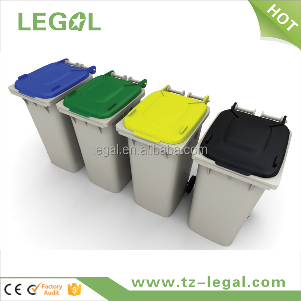 garbage bin 100liter household handle bin container home with EN840