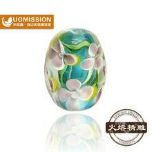 High quality pure handmade lampwork glass beads made in China ,fit women jewelry