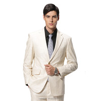 2017 New Arrival Blue One Button Pockets Men's Coat Pant Designs Wedding Suits Men's High-Class Suits
