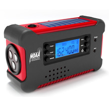 Solar Hand Crank Dynamo FM/AM Emergency Radio with Flashlight