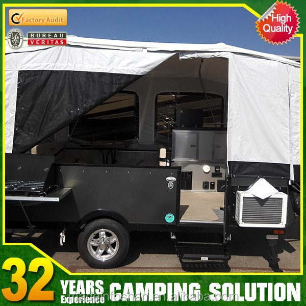Steel off road camping trailer with tent