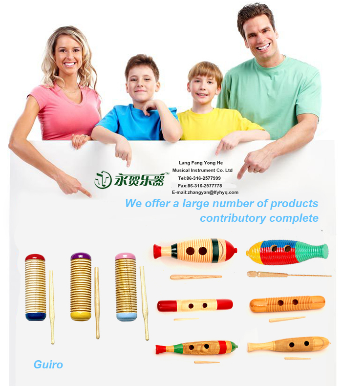 Fashion gift for baby/children  Percussion instrument wooden guiro for children toys