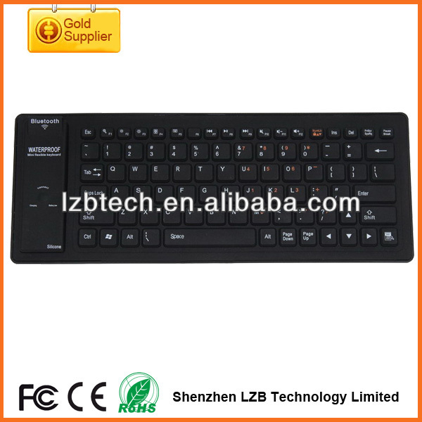 Ultra thin Computer Keyboard Silicone Keyboard,silicone rubber Mini keyboard