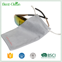 Custom Logo Screen Printed Microfiber Pouch for Sunglasses