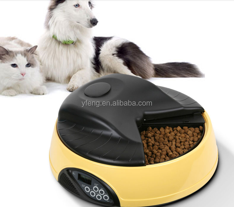Professional 4 Trays Feeding Bowl LCD Digital Automatic Pet Food Feeder with Personal Voice Recorder PF05 for Dog