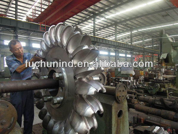 Pelton turbine with single or double nozzle/water turbine/ hydro power plant