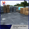 China Huao UHMWPE plastic track mat / UHMWPE black ground protection panel / UHMWPE durable ground mat to protect road surface