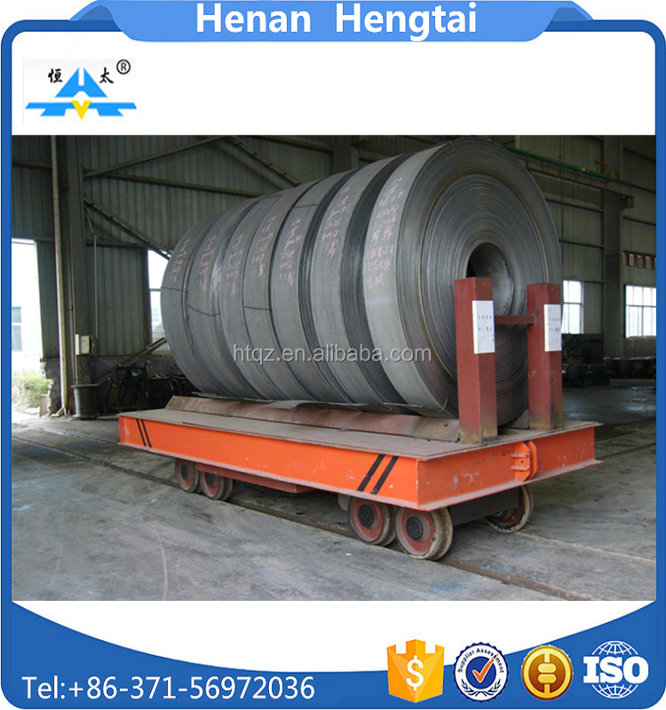 Cross-bay aluminium coil transfer trolley vehicle with heavy load