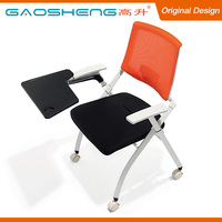 Sale Comfortable Ergonomic Metal Folding Chair With Writing Pad
