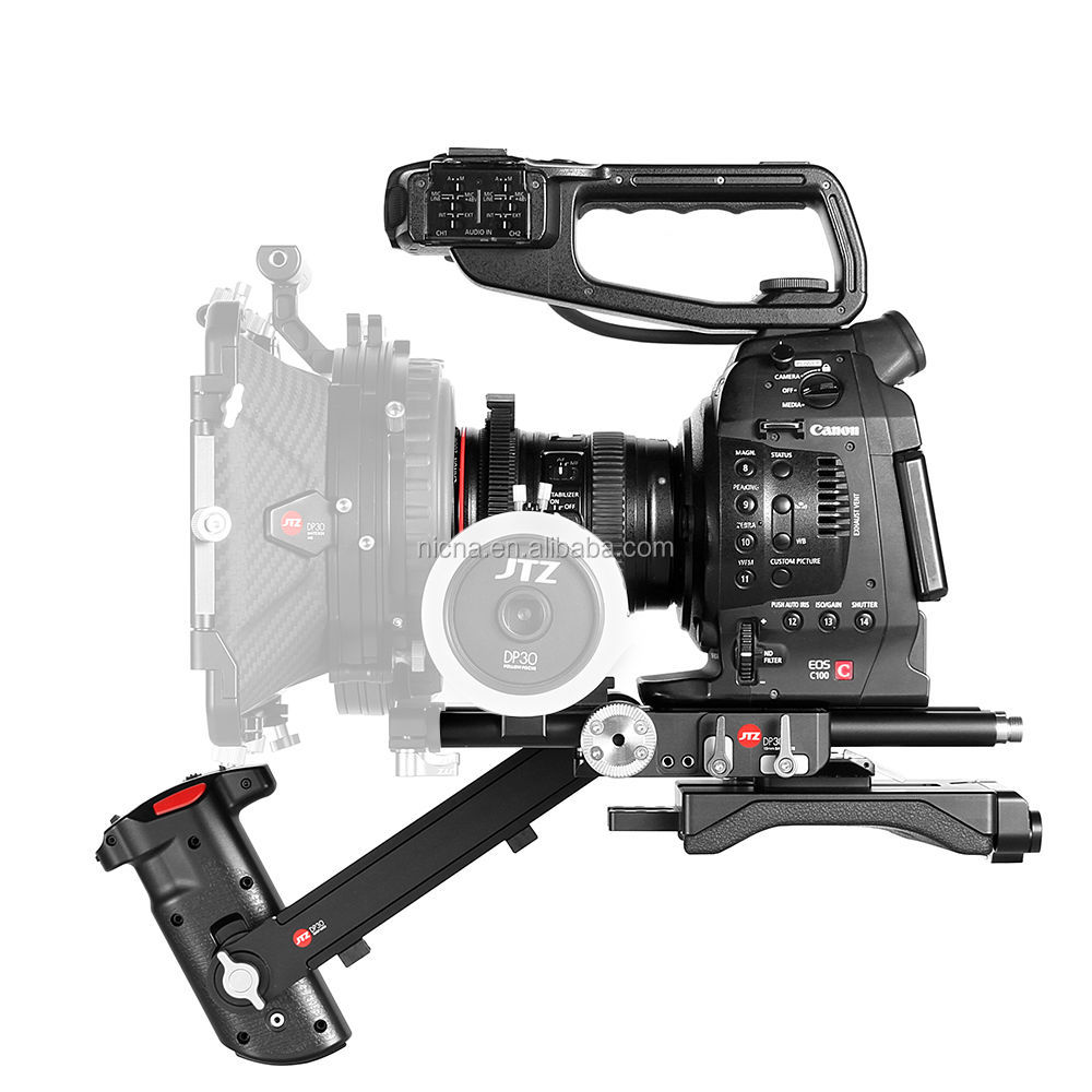 JTZ DP30 <strong>Camera</strong> Cage Baseplate Shoulder Rig For Canon EOS <strong>C100</strong> C300 C500 Mark II