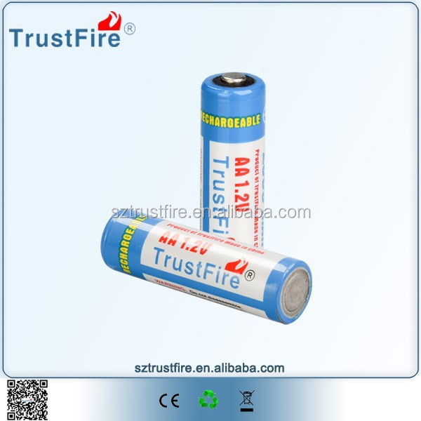TrustFire aa battery,nimh rechargeable batteries,ni-mh aa 2500mah 1.2v battery