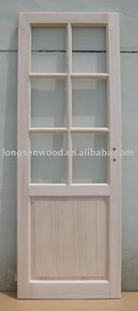 Paulownia Solid Wood Door with FSC Certification