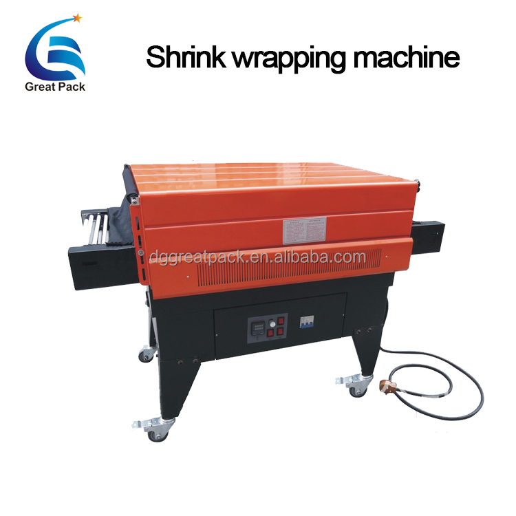 semi automatic heat tunnel shrink wrapping machine