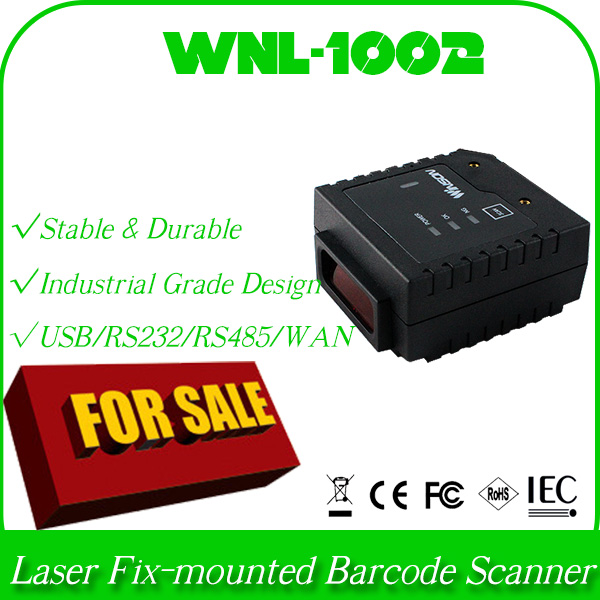 industrial customized design WNL-1002 1D laser barcode scanner fix mount stationary bar code reader data collector