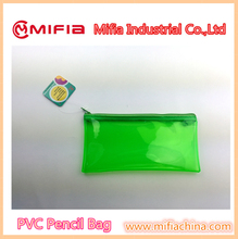 Customized plastic soft pvc clear pencil case/bag for school kid's gift