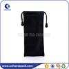 Wholesale black plain pu drawstring pen pouch with beads