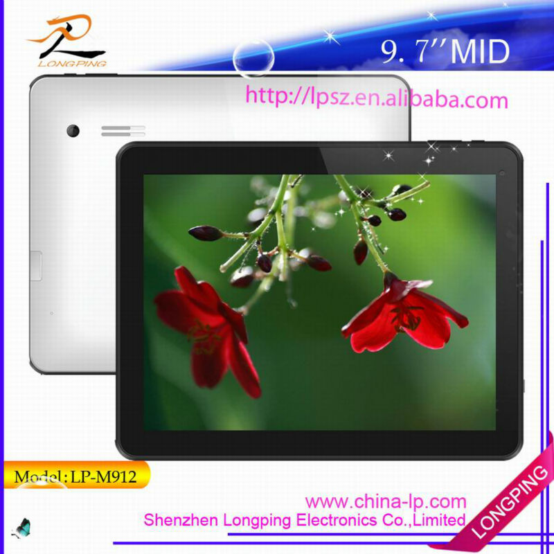 9.7 inch Allwinner A20 Dual Core CPU tablets