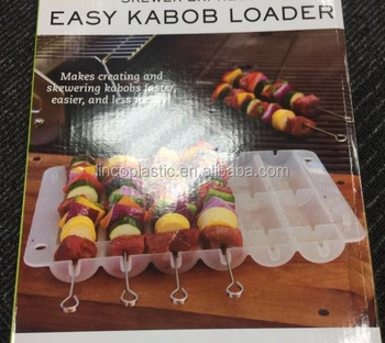 easy kabob loader box with skewer set gift box package