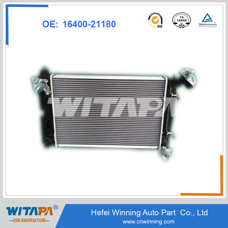 OEM 16400-21180 Radiator For Toyota Corolla auto car From Manufacture With Genuine Quality