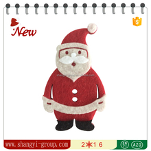 XM4-01 Cute felt Santa sticker christmas decoration indoor small order