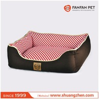 Cotton pet low bumper bed/cube dog and cat sleeper bed/pet dog and cat sofa