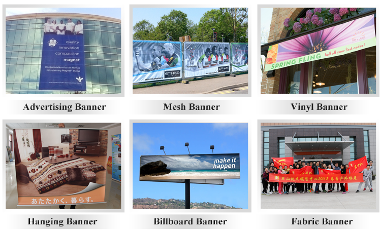 Large format sublimation printing polyester fabric banner for advertising