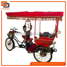 electric and pedal tricycle 3 wheel pedal assisted taxi battery operated tourist rickshaw