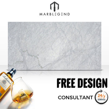 Luxury interior decoration materials Italy natural bianco carrara marble slab