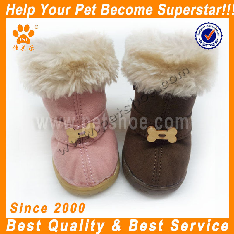 JML new arrival warmth and protection suede dog shoes for winter