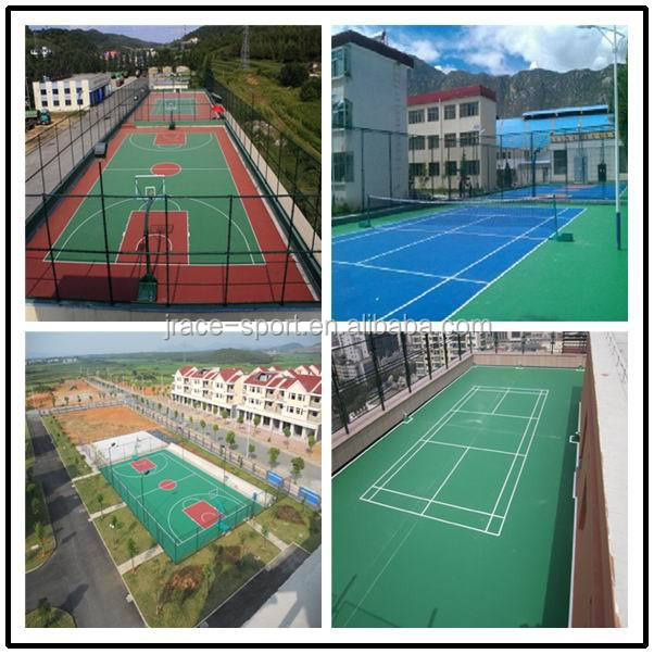 new developed water-based school used tennis court flooring material tennis court sport flooring