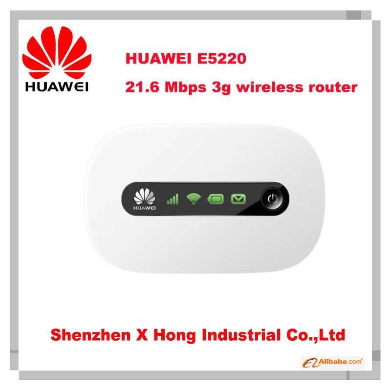 New Original Unlock HSPA+ 21.6Mbps HUAWEI E5220 Portable 3G Wi-Fi Router