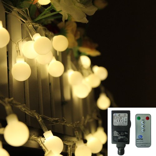 New Product Big Spot Low Voltage UL Plug-in 104 LED Globe String Lights Ball Fairy Light with Remote for Outdoor Decoration