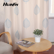 Ready Made Polyester embroidery window curtain for Modern Living Room