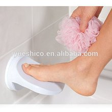 Shower Foot Rest Shaving Protable Safe Suction Bathroom shower foot step Suction Cup & Non-Slip sticker