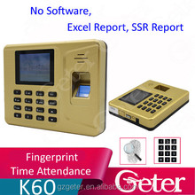 China Supplier 2.8 inch Colorful TFT color screen Fingerprint Time attendance supporting Office Excel Software,excel report