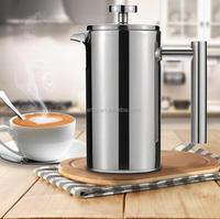 2017 New Coffee Pot 350ML/1000ML Stainless Steel Cafetiere French Press With Filter Double Wall Insulation Design Polish Process