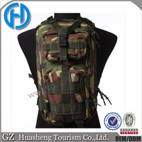 woodland camo 3P worldwide use popular 600D military tactical satchel backpack