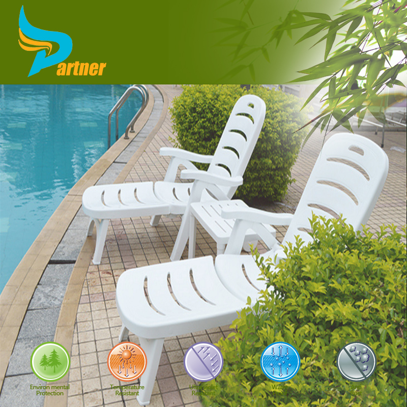 Swimming Pool Chaise Beach Sun Lounge Outdoor Plastic Chair