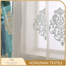 Hot sale professional elegant voile white embroidered cafe curtains