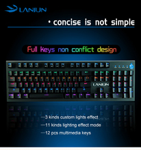 Exquisite Technical 915g anti-ghosting water-proof dust proof gaming wired mechanical keyboard