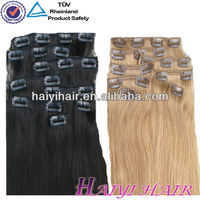 Direct hair factory wholesale price hair clip in hair extensions for african american