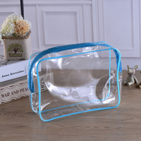 China factory transparent small pvcwaterproof zip lock bag with Professional Printed Packaging PVC Bag