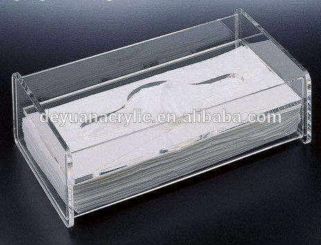 Plastic clear acrylic tissue box holder with best price
