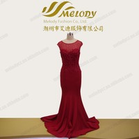 Full-length Empire Burgundy color sleeveless Mother of the Bride Dress