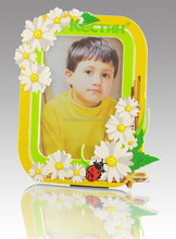 custom silicone acrylic PVC rubber available grade lovely flower design photo frame for baby