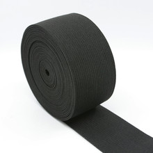 Durable Stretch Fabric Black Knitted Elastic Band